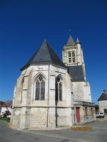 Eglise à Brunvillers la motte.