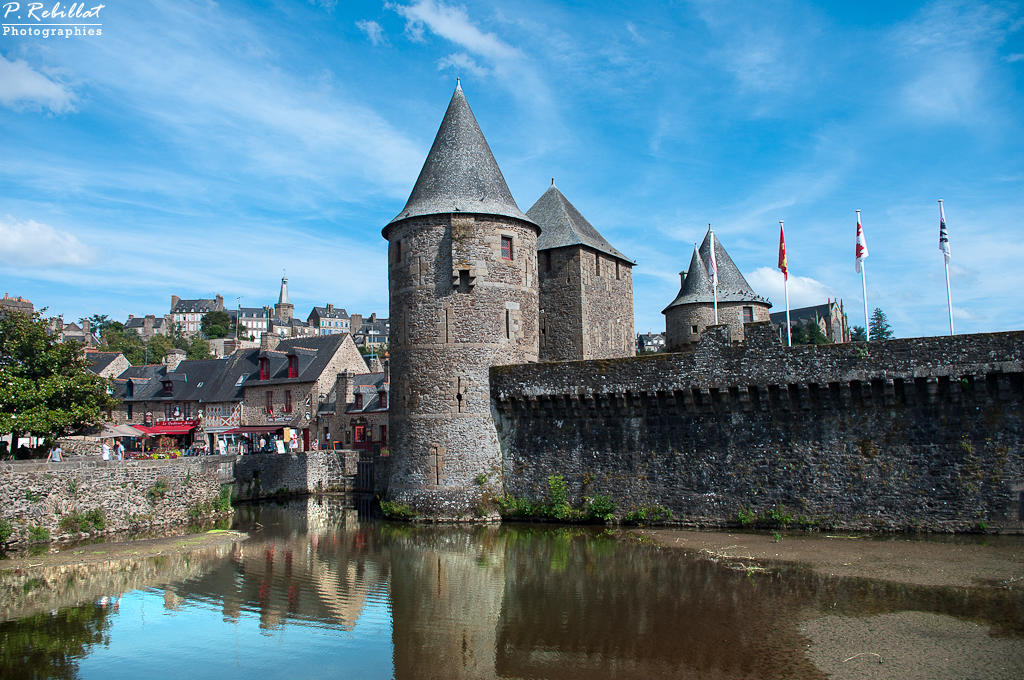 Castle, French Heritage monument to Fougeres.