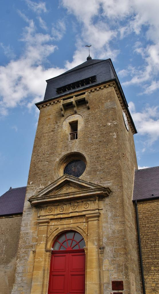 Fortified church, French Heritage monument to Remilly aillicourt.