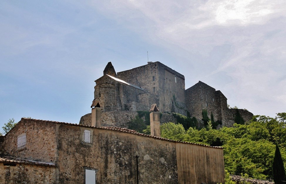 Dungeon; Castle, French Heritage monument to Roussas.