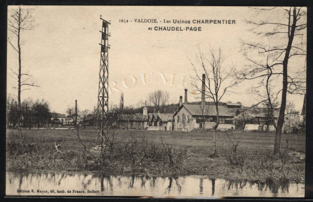Factory of industrial equipment Page, then Chaudel-Page, then Socolest, currently factory of precision Crelier, French Heritage monument to Valdoie.