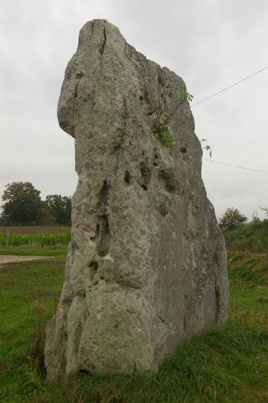 Menhir said La Pierre Fiche, French Heritage monument to Duneau.