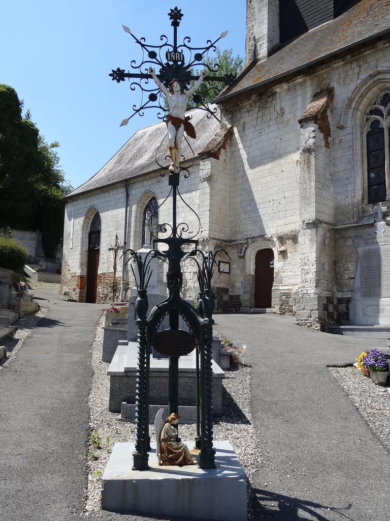 Church, French Heritage monument to St denoeux.