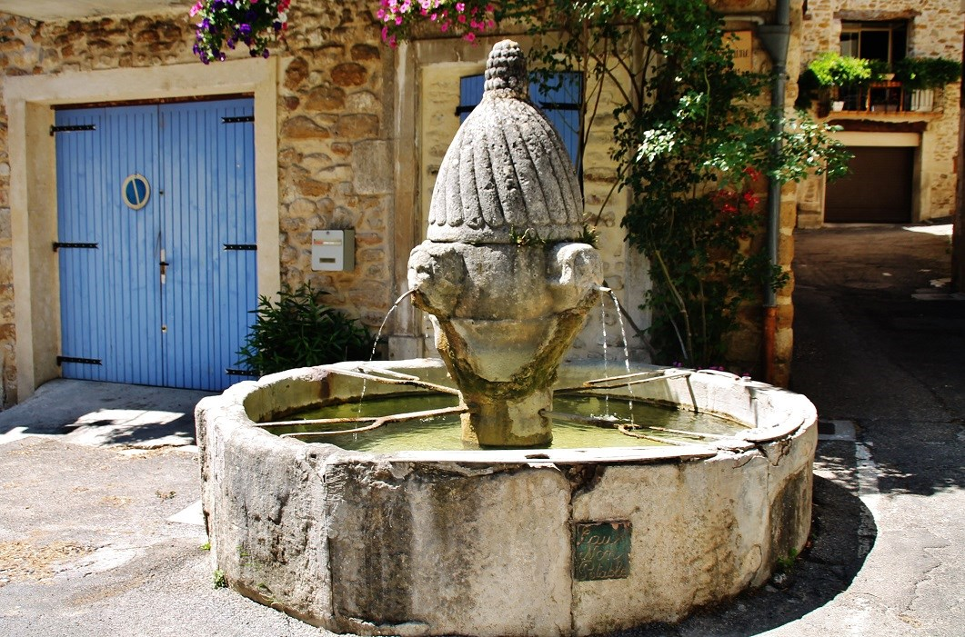 Fountain, French Heritage monument to Mirabel aux baronnies.