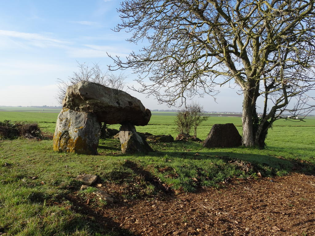 Fontenaille dolmen, French Heritage monument to Champigny le sec.