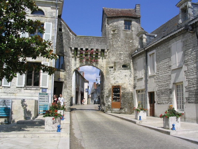 City gate, French Heritage monument to La roche posay.