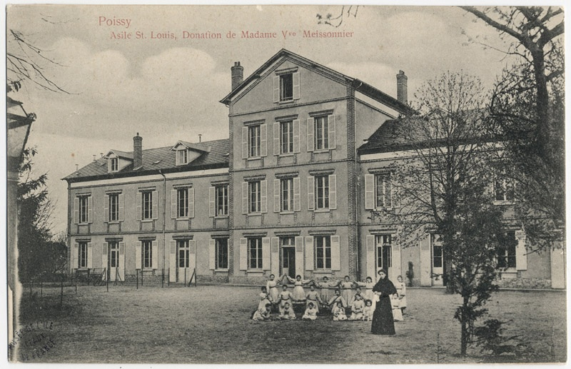 House, then asylum St. Louis, French Heritage monument to Poissy.