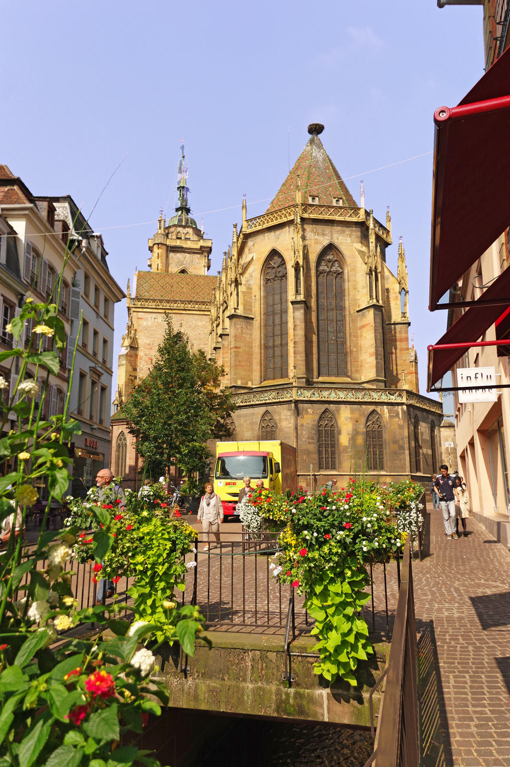 Former collegiate church Saint-Martin, French Heritage monument to Colmar.