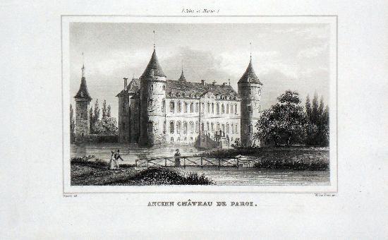 Jardin d'agrément dit parc du château de Paroy à Paroy.