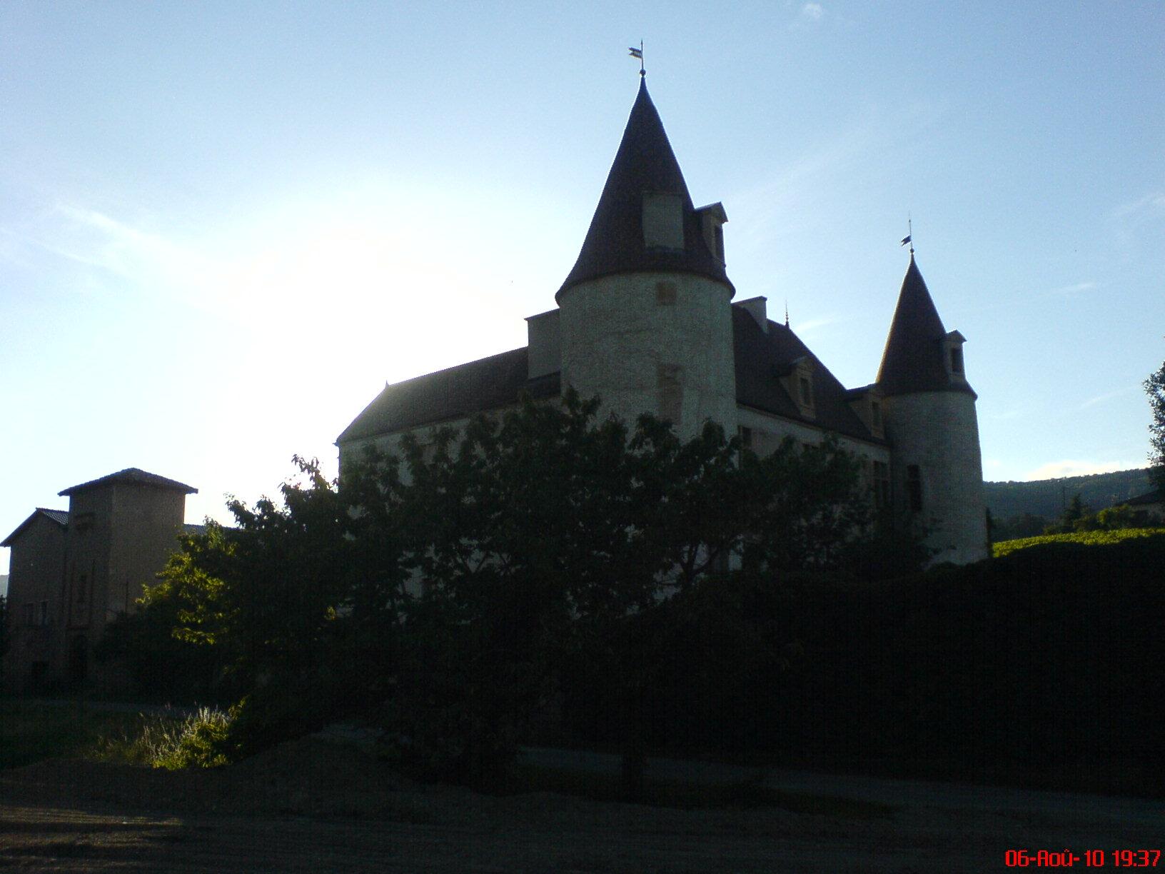 Castle of La Palud, French Heritage monument to Quincie en beaujolais.