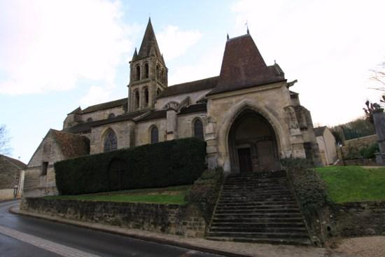 Church, French Heritage monument to Jouy le moutier.