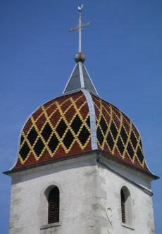 clocher, Franche-Comté, tuiles