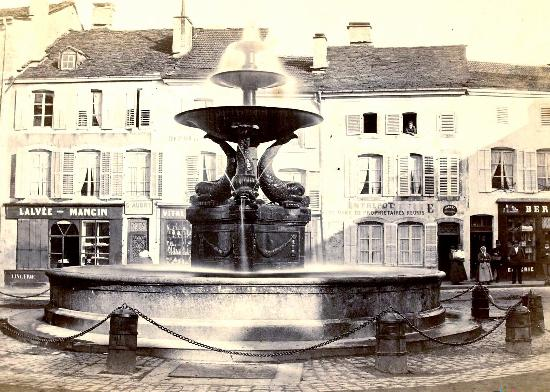Eight fountains, French Heritage monument to Remiremont.