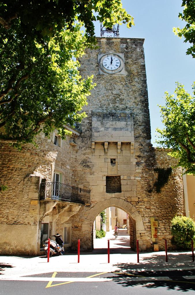 Belfry, public clock, French Heritage monument to Richerenches.
