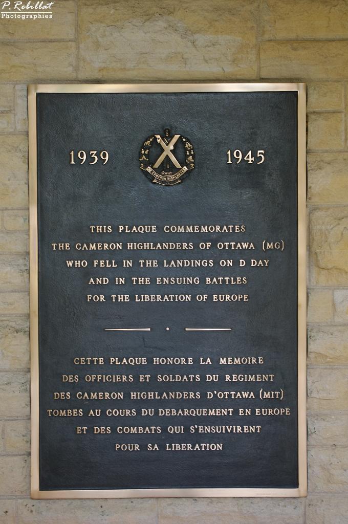 Cimetière canadien de Beny-sur-Mer.
