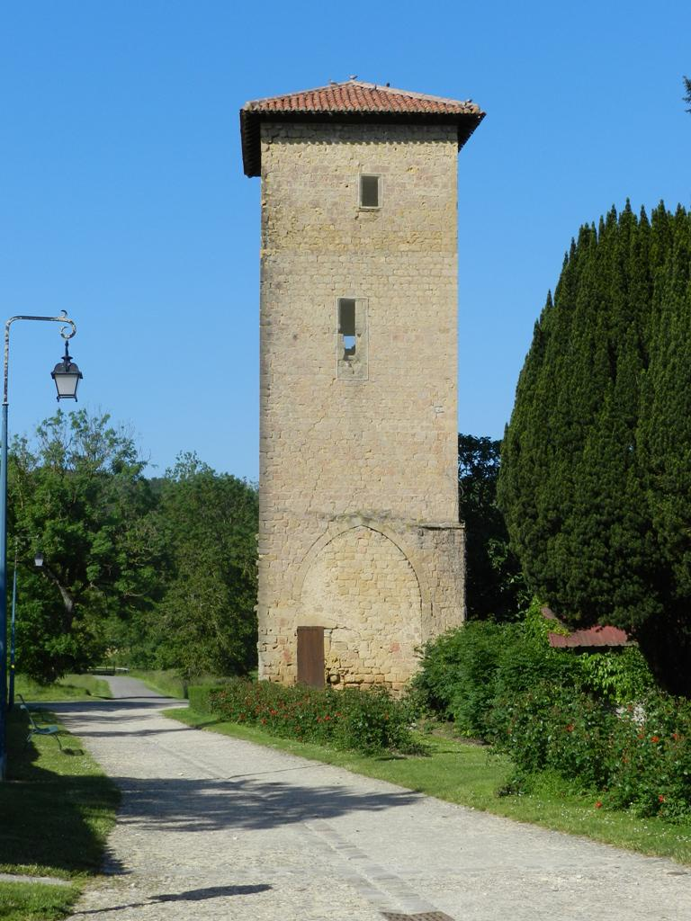 The clock tower, French Heritage monument to Tillac.