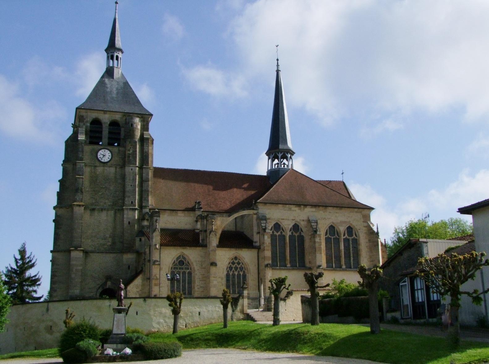 Eglise Saint-Laurent à Soulaines dhuys.