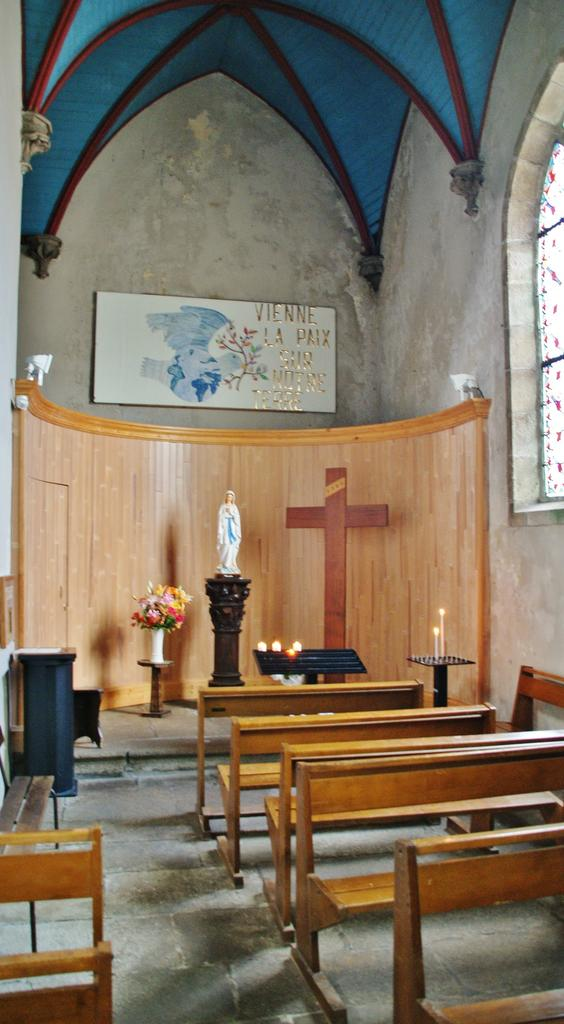 Parish church of Saint-Pierre, French Heritage monument to Plouescat.