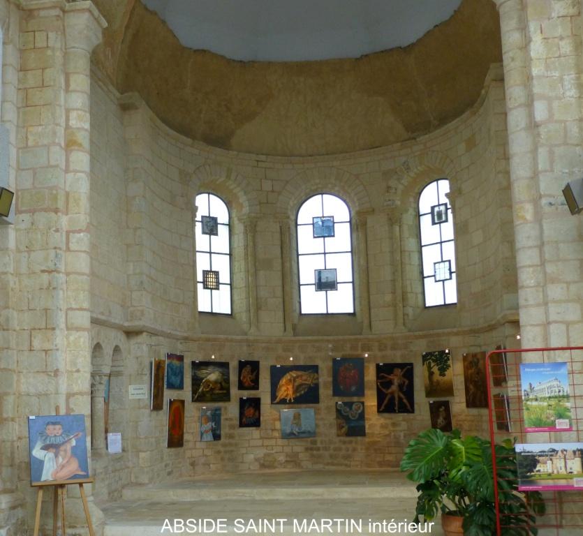 Restes de l'ancienne église Saint-Martin à Gracay.