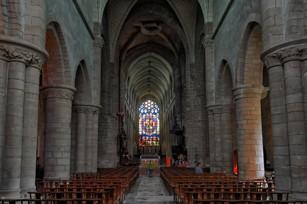 Saint-Aubin Church (former collegiate church), French Heritage monument to Guerande.