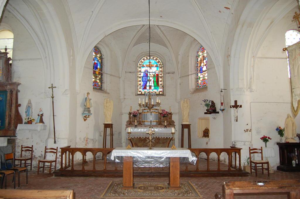Fortified parish church Saint Theodulf, French Heritage monument to Gronard.