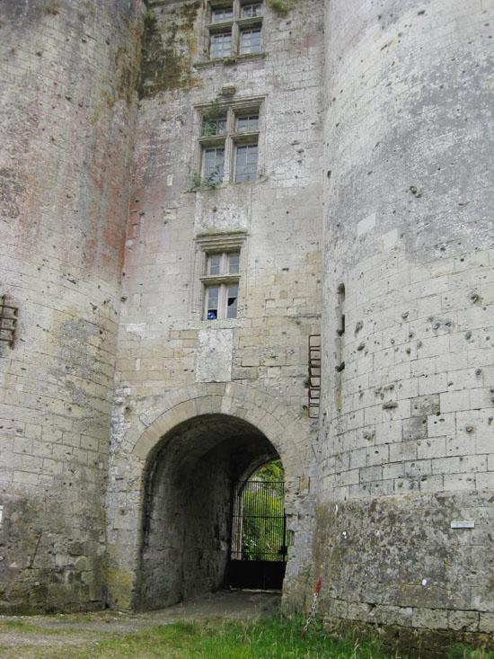 Le château de Tancarville à Tancarville.