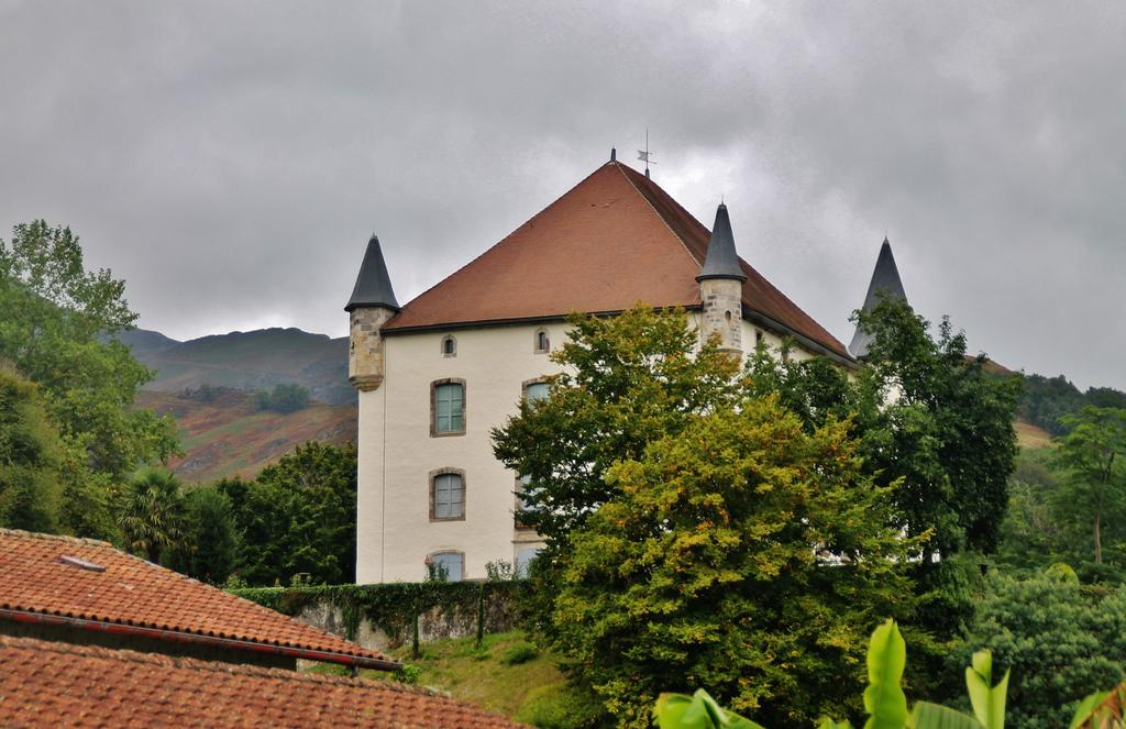 Manor House called Etchaux Castle, French Heritage monument to St etienne de baigorry.