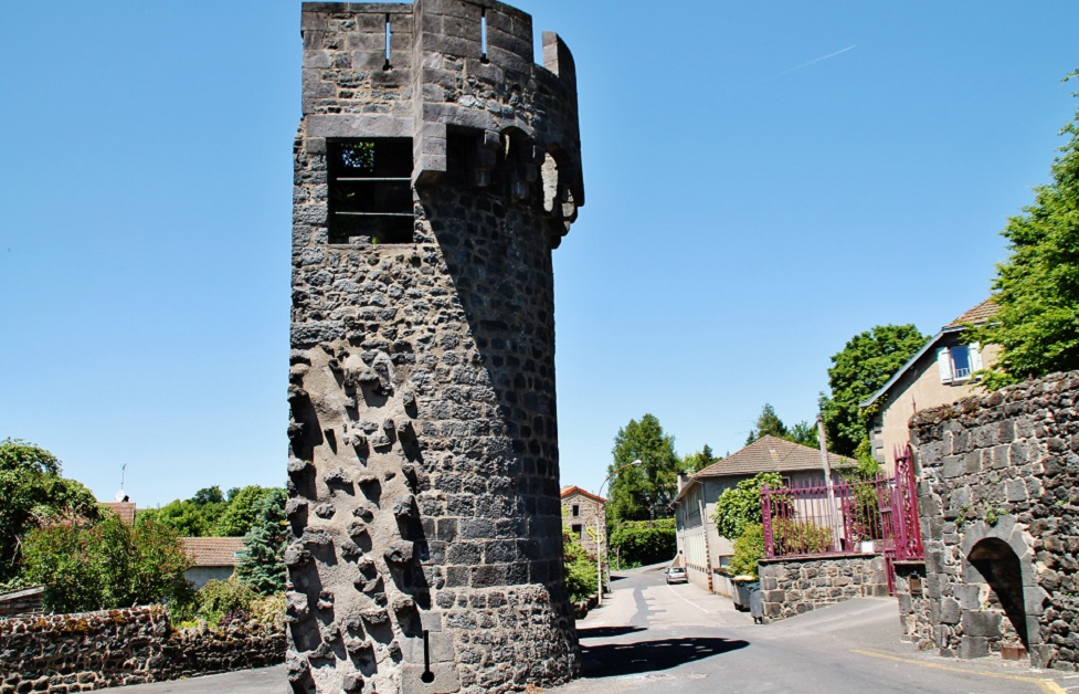 Remains of the walls of the city, French Heritage monument to Pontgibaud.