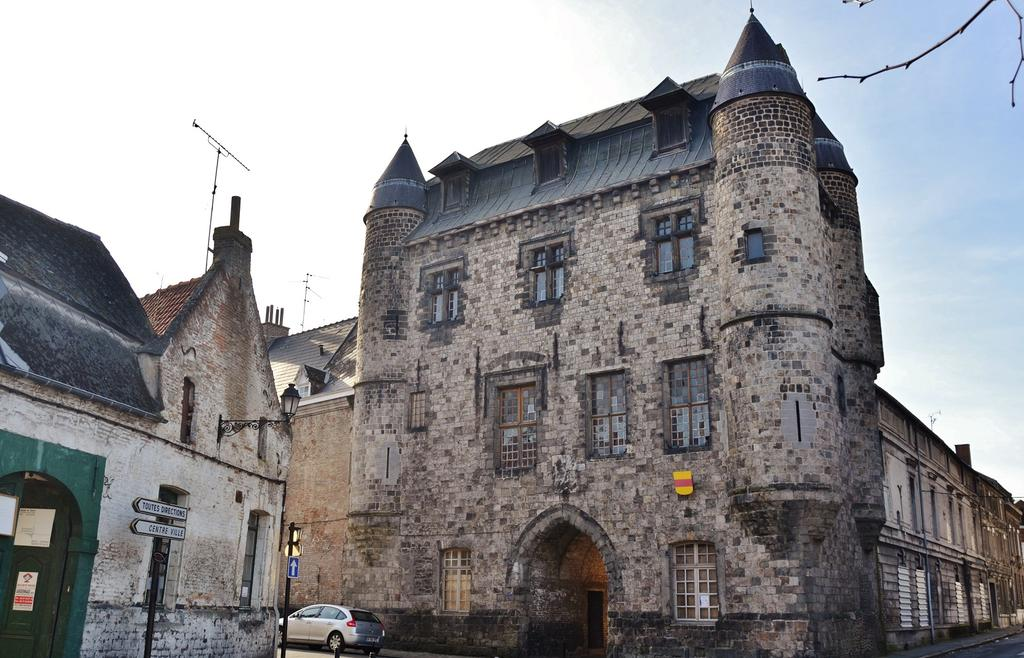 Castle of Bailleul and contiguous buildings, French Heritage monument to Conde sur l escaut.