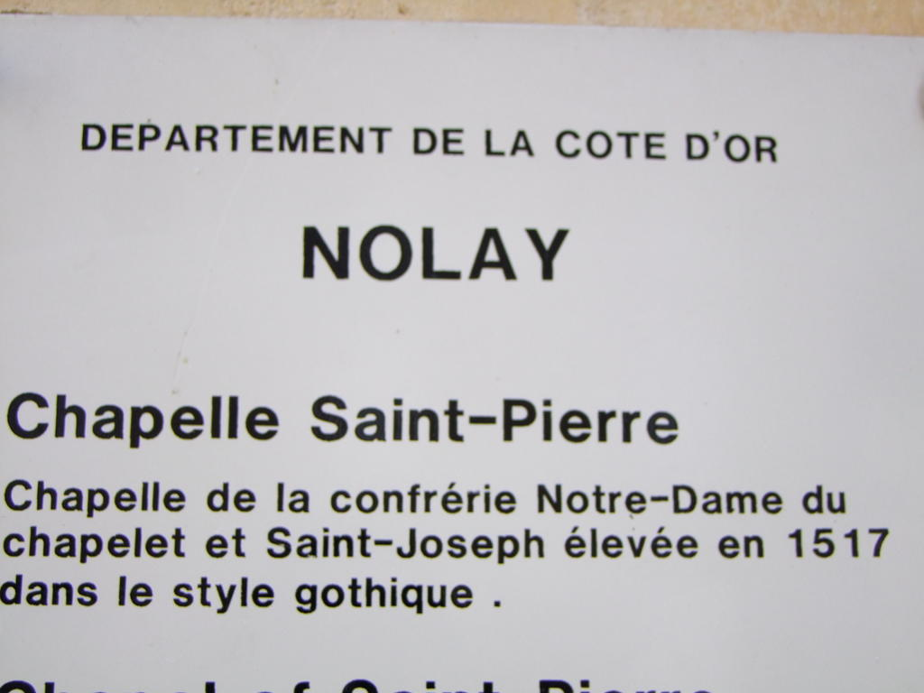 Chapelle Saint-Pierre to Nolay.