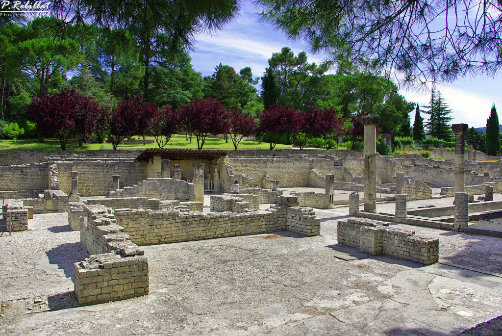 Land of Gallo-Roman excavations of the Hill of Puymin (set), French Heritage monument to Vaison la romaine.