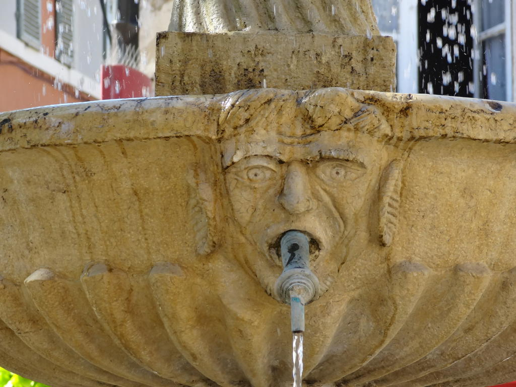 The fountain of the 18 s, French Heritage monument to Cassis.