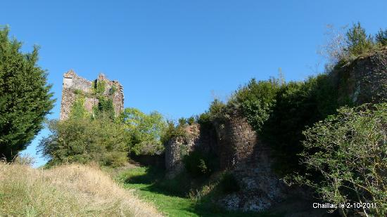 Ruins of the castle of brush, French Heritage monument to Chaillac.