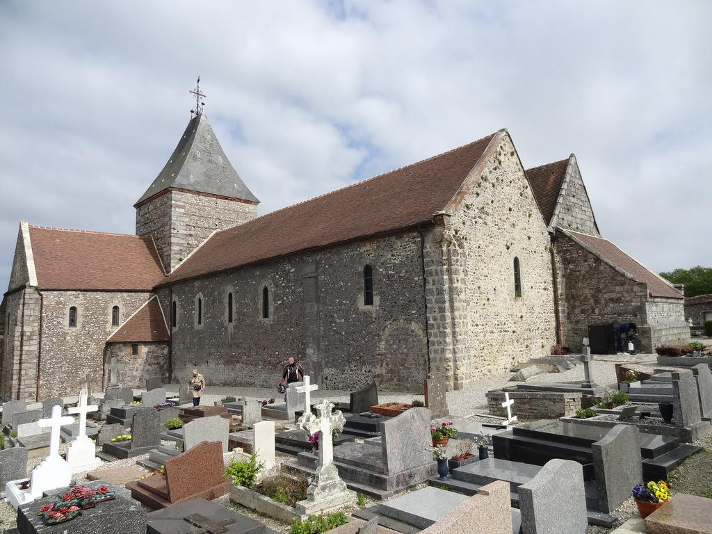 Church and cemetery, French Heritage monument to Varengeville sur mer.