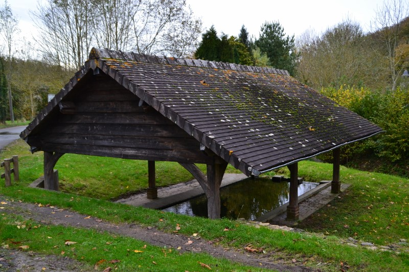 Wash-house, French Heritage monument to St pierre du val.