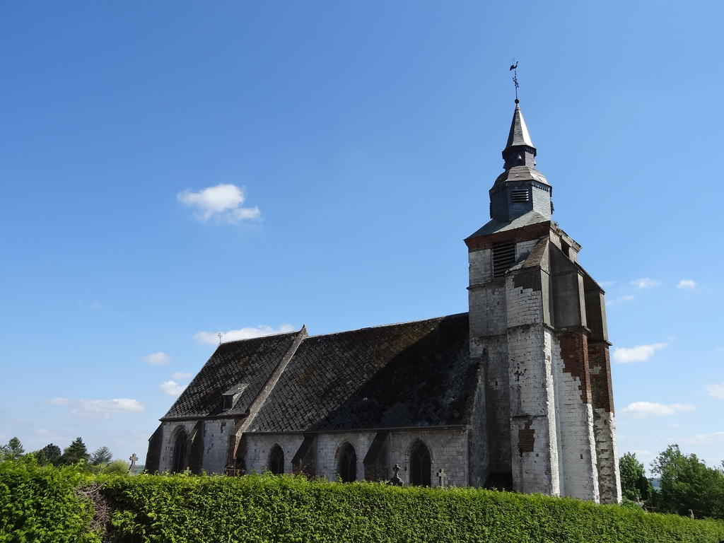 Church, French Heritage monument to Huby st leu.