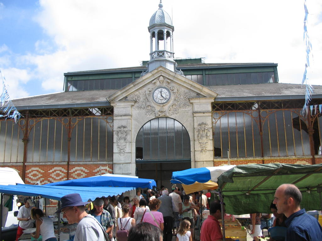 Covered market, French Heritage monument to Coulonges sur l autize.