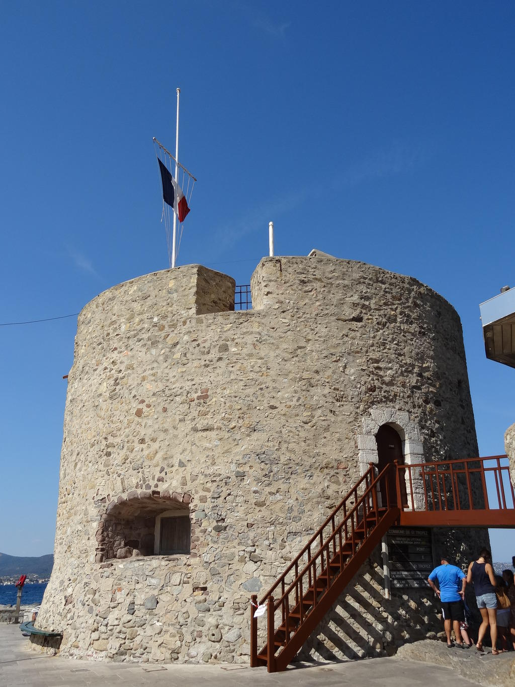 Fortified book said Tower Portalet, French Heritage monument to St tropez.