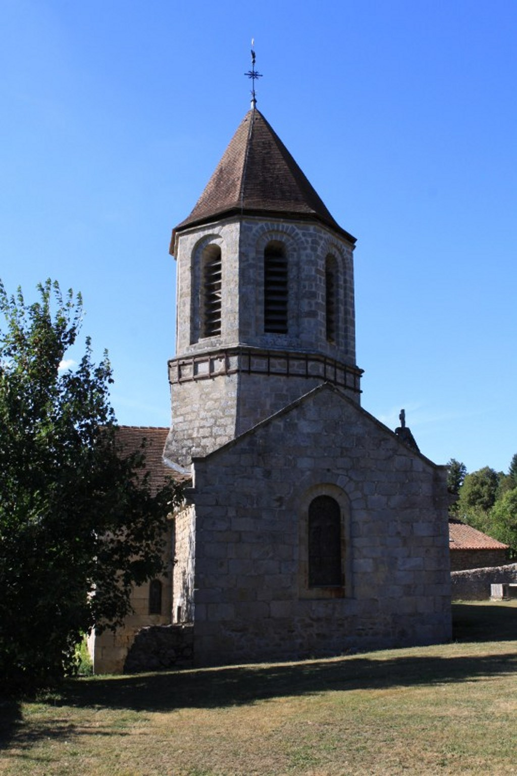 Old church, French Heritage monument to St hilaire les places.