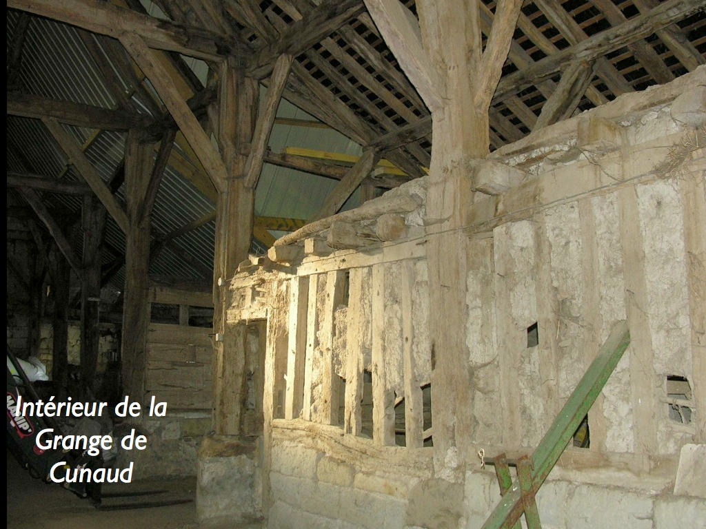So-called Benedictine Cunault barn tithe barn, French Heritage monument to St clement des levees.