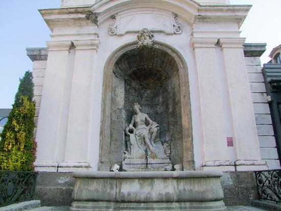 Fountain Truchot, French Heritage monument to Salins les bains.