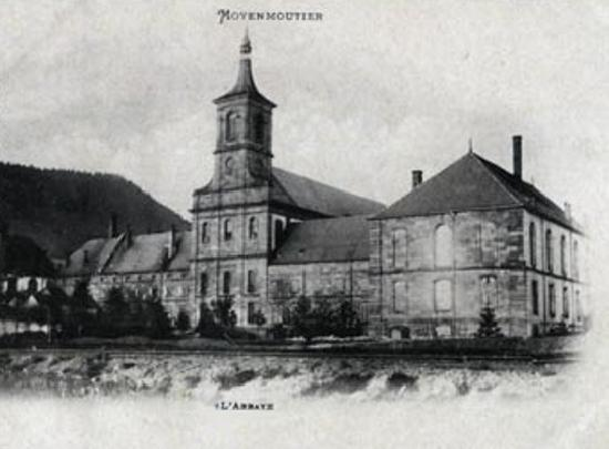 Ancienne abbaye à Moyenmoutier.